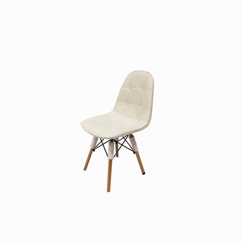 silla eames capitone dsw madera blanca comedor escritorio