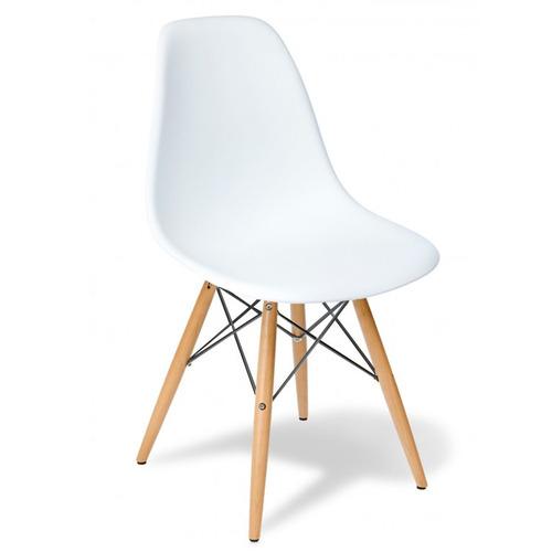 silla eames clasica blanco vintage 83180 / fernapet