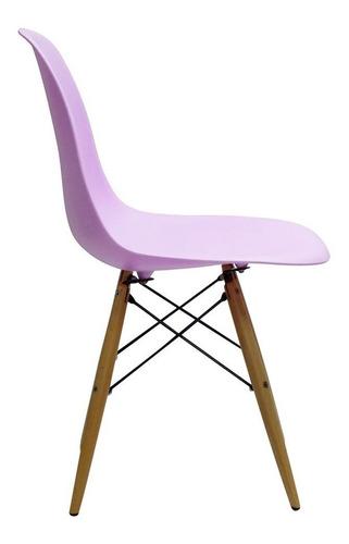 silla eames clásica violeta vintage 83203 fernapet