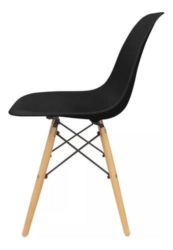 silla eames comedor plastico patas madera diseño x4 12 cuota