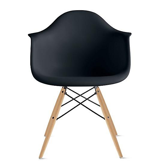 Diseño Negro Silla Sillon Eames Madera Daw Armado Comedor SzGUVqMp