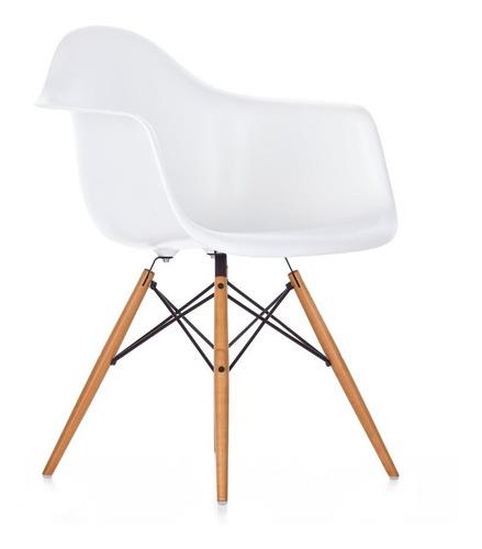 silla eames con apoyabrazo vintage blanca 83191 - fernapet