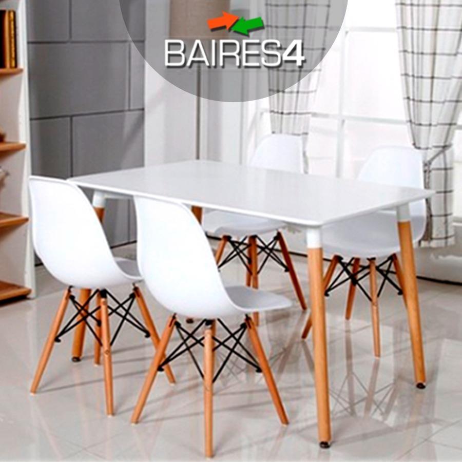 Silla Eames Dsw Blanca De Diseño Comedor Vintage - Baires4 - $ 5.281 ...