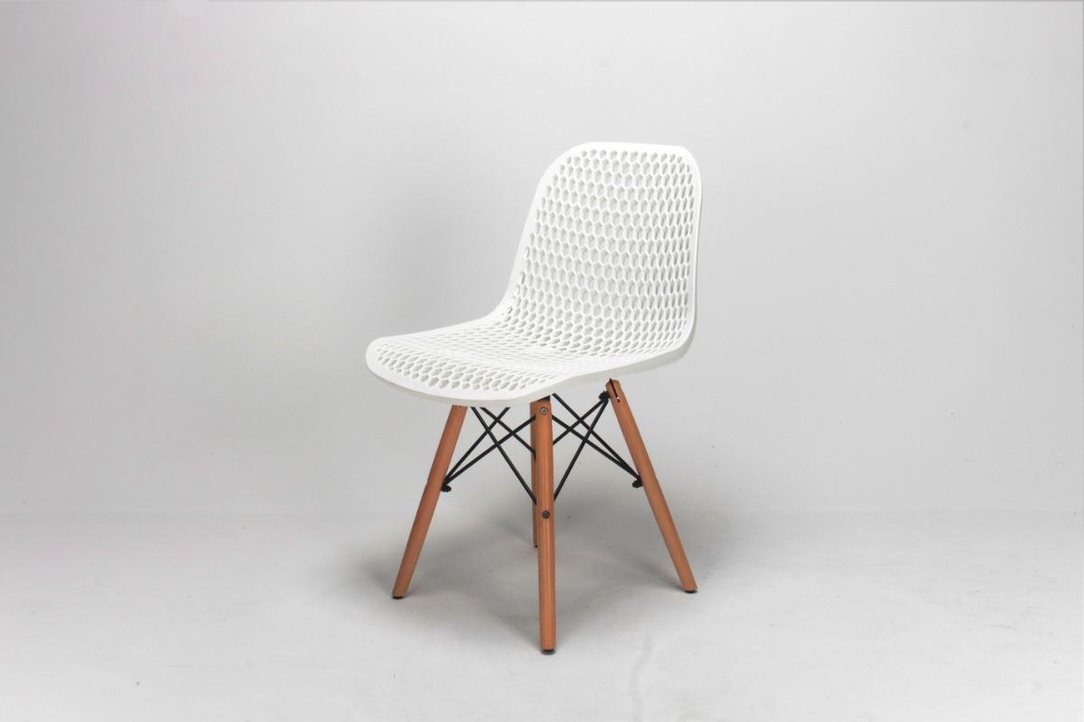 Silla Eames Living Comedor Cocina De Diseño Blanca Pack X2 U
