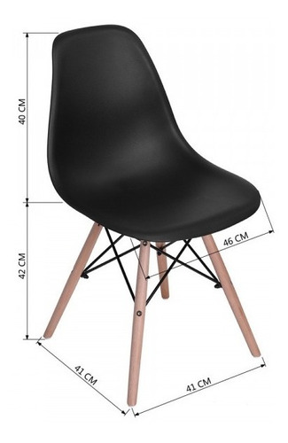 silla eames moderna madera comedor oficina colores