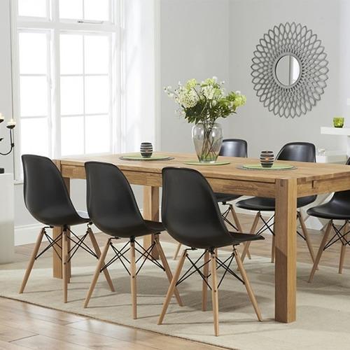 silla eames para sala comedor patas en madera + garantía