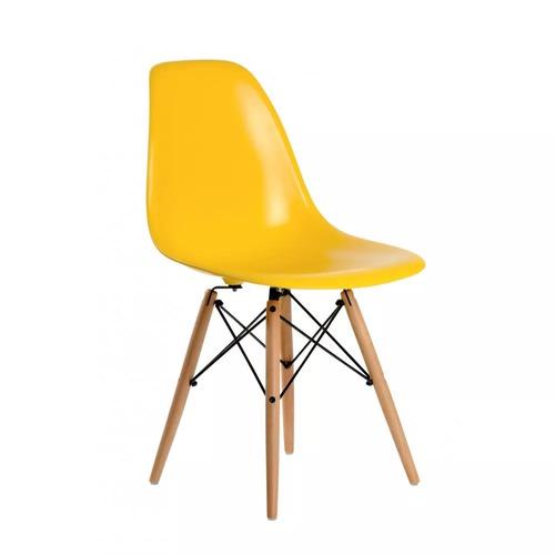 silla  eames patas de madera varios colores