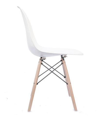 silla eames patas de madera varios colores - prestigio