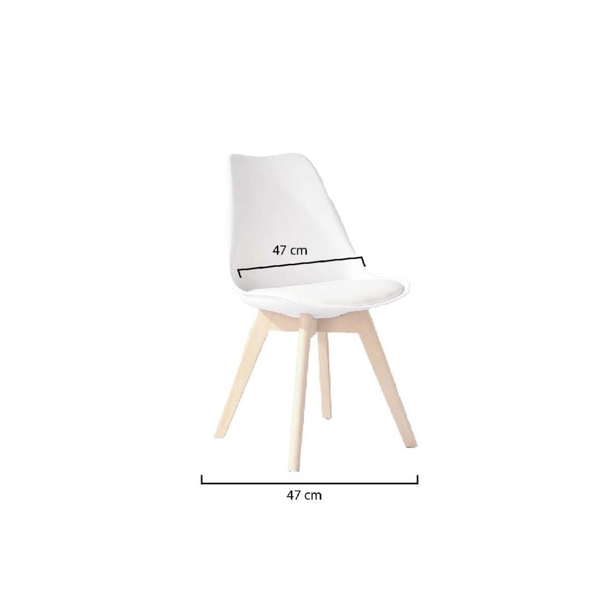Moderna Diseño Blanca Comedor Silla Negra Tulip Eames shQCdtr