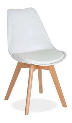silla eames tulip con almohadon patas de madera baires 4