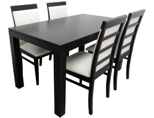 silla eco cuero+ madera maciza + lustre poliuretanico oferta