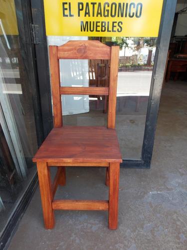 silla ecopin (pino en color algarrobo)