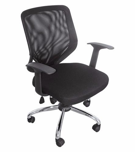 silla ejecutiva bossini base cromada ergonomica