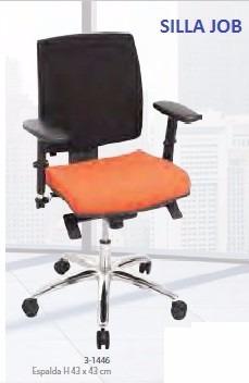 silla ejecutiva en paño colores