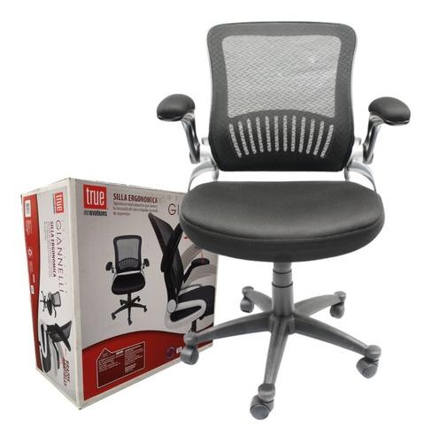 silla ejecutiva ergonómica de malla descansabrazos abatibles