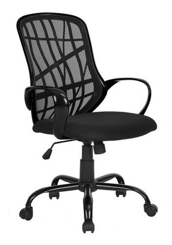 silla ejecutiva ergonómica de ruedas negra con envío gratis