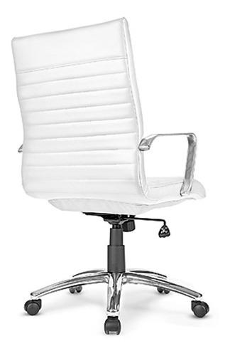 silla ejecutiva moderna de piel bonded en color blanco