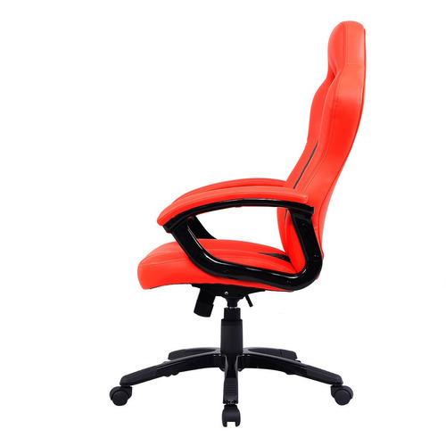 Silla ejecutiva para escritorio en piel naranja intenso for Precio silla escritorio