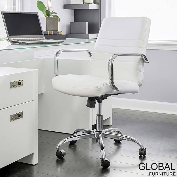Silla Ejecutiva Para Oficina 100 Piel Global Furniture