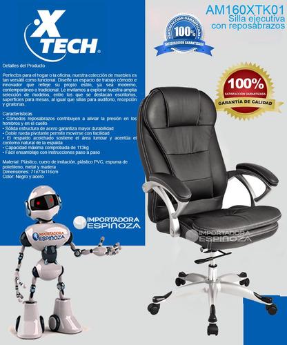silla ejecutiva para oficina giratoria apoya brazos ergonomi
