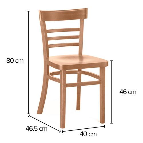 silla emiliano asiento y respaldo madera de haya marca durex