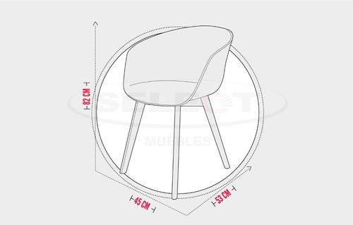 silla  en plástico(pp) y patas en madera. toledo blanca