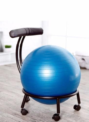 Silla ergonomica pelota yoga ortopedica para oficina for Sillas plegables para yoga