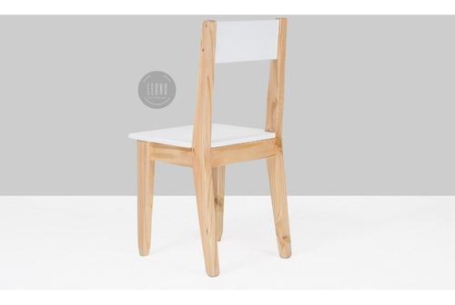 silla escandinava laqueada retro vintage nordico pintada