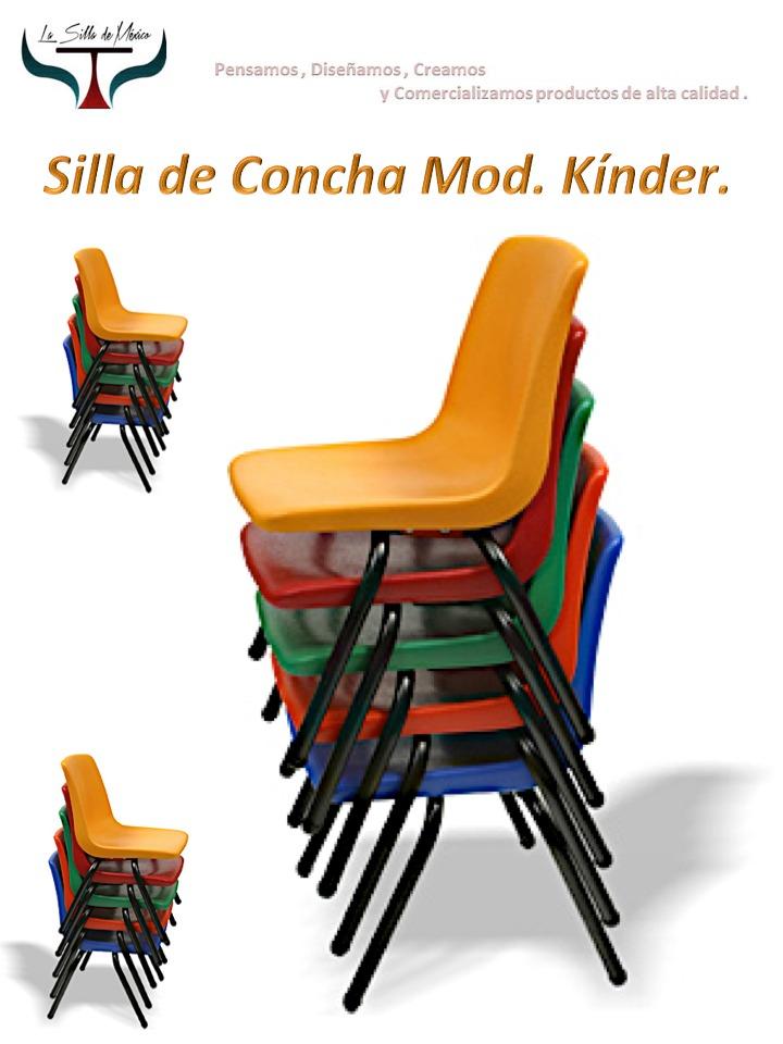 Silla escolar concha de plastico infantil super reforzada for Silla infantil plastico