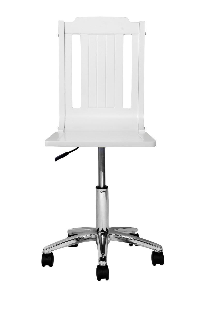 Silla escritorio blanca lacada en mercado libre for Sillas blancas para escritorio