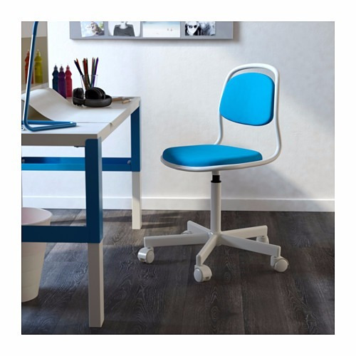 Azul Escritorio Ikea Silla Niño Con De Blanco NOmnw80v