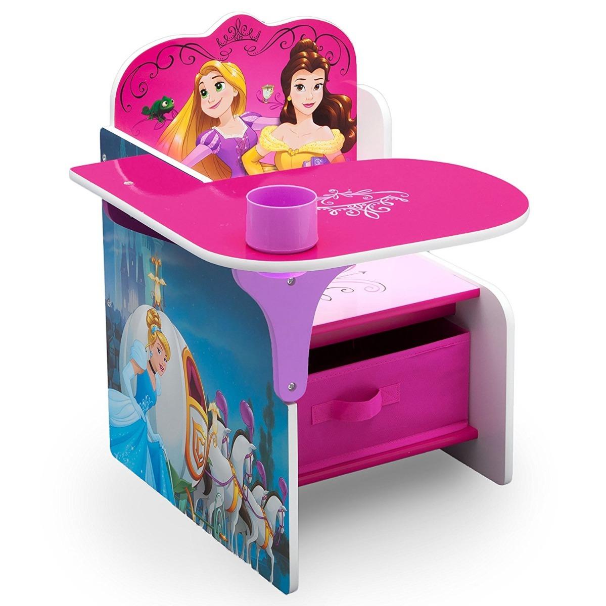 Silla escritorio infantil con papelera de las princesas for Silla escritorio infantil