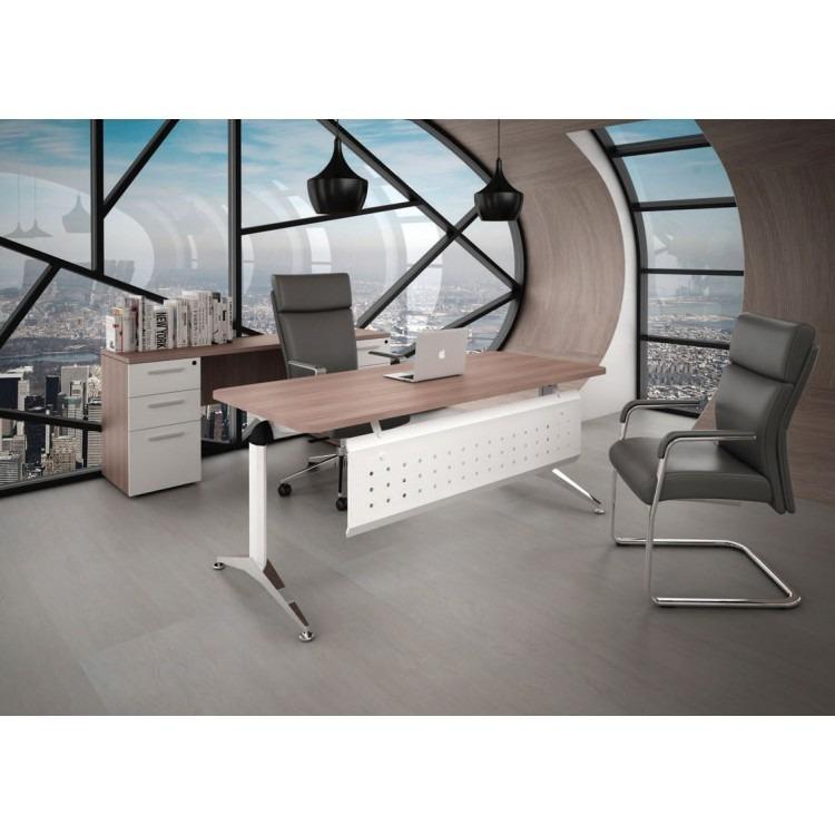Silla sillon visita escritorio oficina piel oce blanca for Silla escritorio oficina