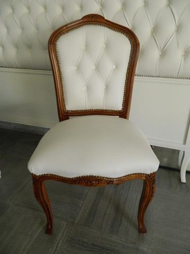 silla estilo frances luis xv envejecida