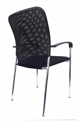 silla fija apilable de caño, malla elástica. sicilia strada