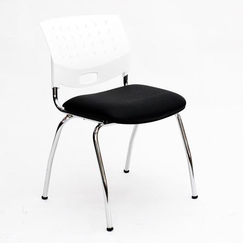 silla fija cromada greta de diseño - jmi