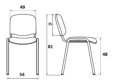 silla fija oficina apilable cromada tapizada reforzada espuma alta densidad con garantia de fabrica stock permanente