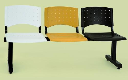 silla fija tapizada apilable