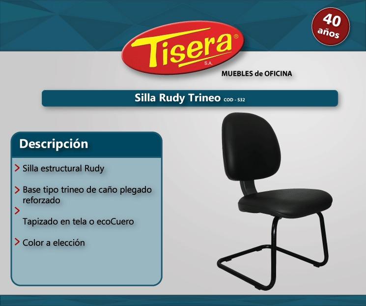 Tapizada Cods32 Fija Silla Oficina Trineo Metalica Tisera Pc 7gybYf6