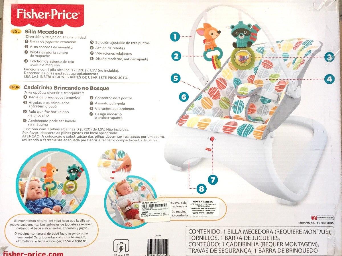 Silla Fisher Price Hamaca Mecedora Bebesit - $ 1.600,00 en Mercado Libre