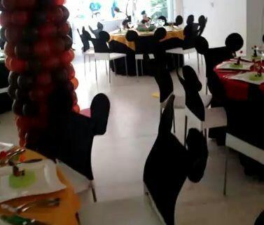 silla funda forro cubresilla decora fiesta navidad minnie