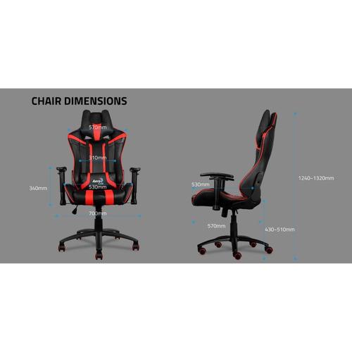 silla gamer aero cool ac 120 air negro con rojo