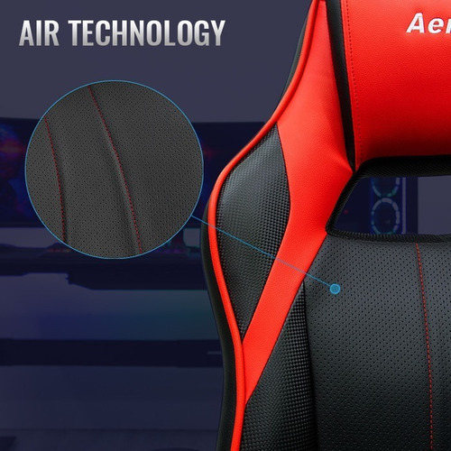 silla gamer aerocool ac40c air - ergonómica - moderna gaming