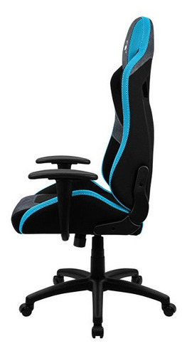 silla gamer aerocool count steel blue
