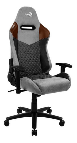 silla gamer aerocool duke tan grey
