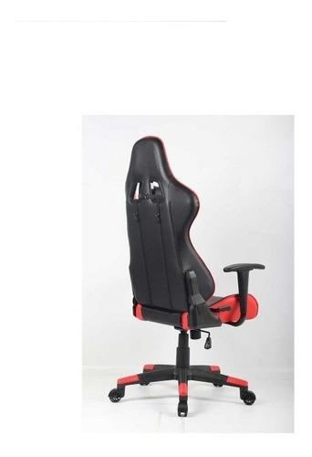 silla gamer cabrera tukasa roja con negro con cojines nueva