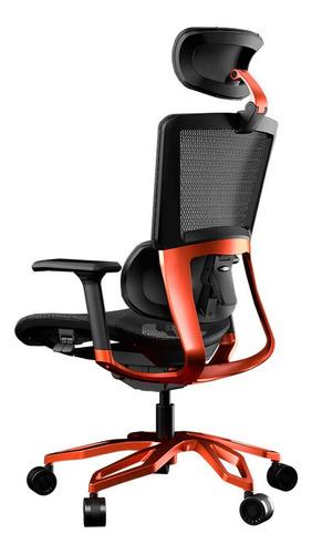 silla gamer cougar argo color negro/nranja