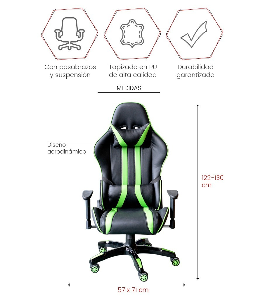 Loi Calidad Gamer Race Chile Reclinable Silla Donna uT3FKJ1lc
