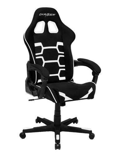 silla gamer dx-racer origin series negra con blanco sillon
