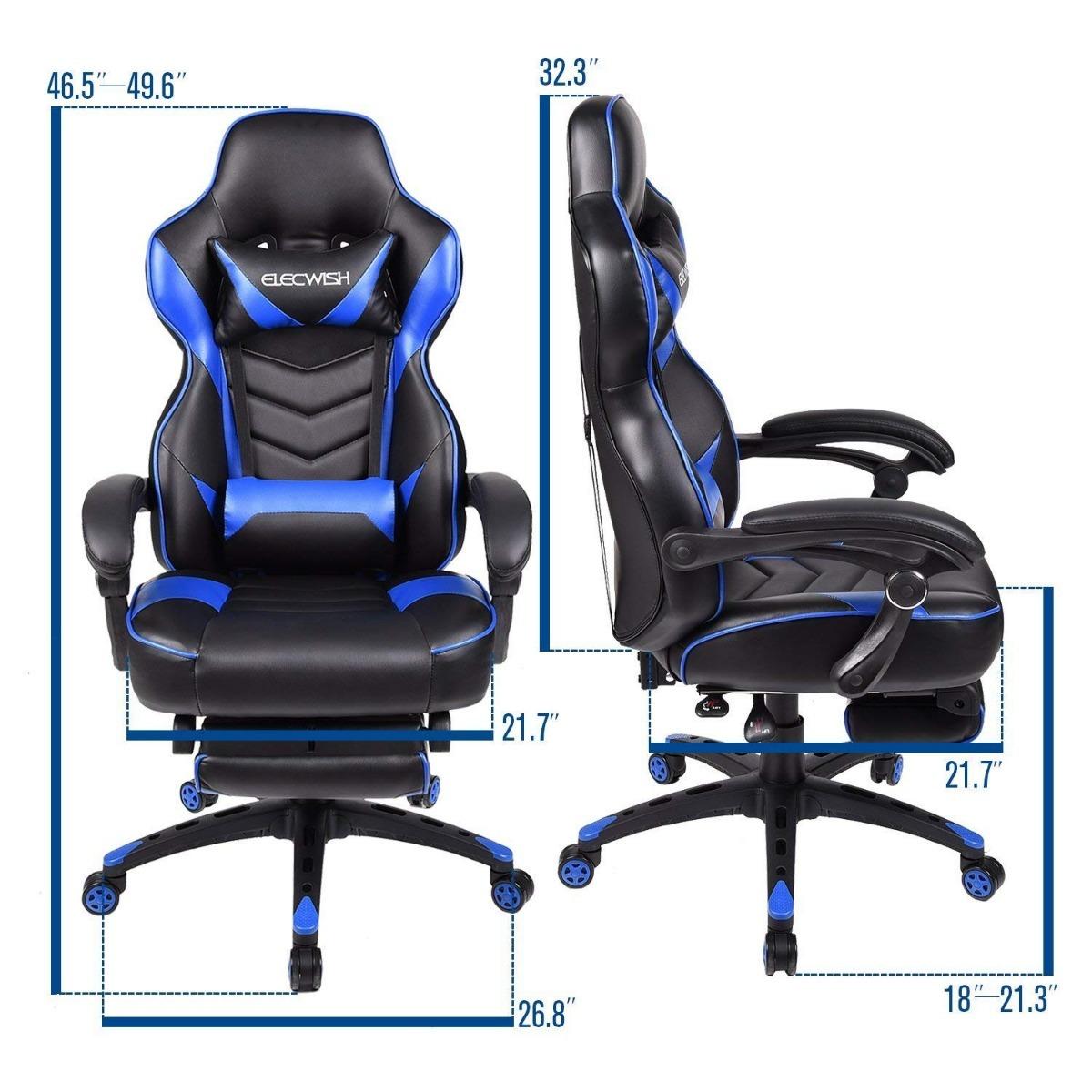 Silla Gaming Gamer Elecwish Ergonomic ChairPu Lea Computer dsBhrtQCx